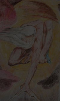 A colored pencil rendition of William Blake's