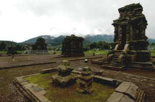 A Shiva temple on the mystical Dieng Plateau in Java.