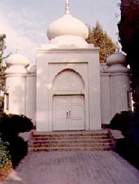 The doors leading into the temple of the Vedanta Temple in Hollywood.