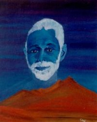 Ramana Maharshi over-shadowing Arunachala.